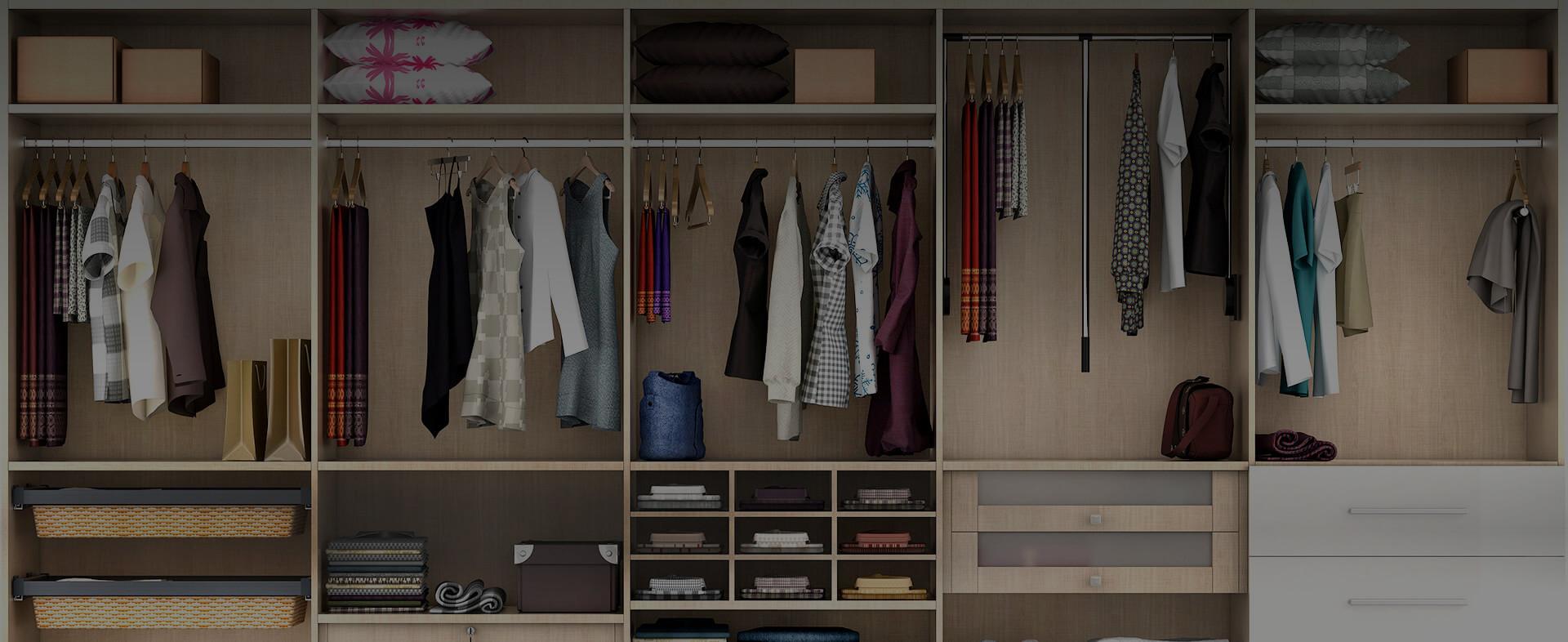 Υλικά επιπλοποιίας για ντουλάπες